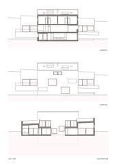 Schnitt Ansicht Süd Villa familiale von Bureau d'architectes Giorla & Trautmann SA
