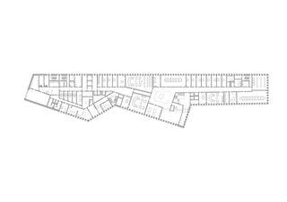 Rez-de-chaussée Strafjustizzentrum de Architekten ETH SIA BSA Kunz und Mösch GmbH