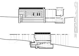 Schnitte Maison de l'Écriture von Mangeat Wahlen architectes associés