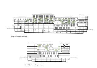 Schnitt D-D / E-E Wright Place von matti ragaz hitz architekten ag