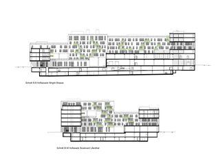 Schnitt B-B / M-M Wright Place von matti ragaz hitz architekten ag