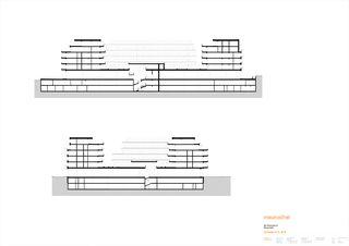 Schnitt A-A / B-B Rheinfels III von maurusfrei Architekten AG