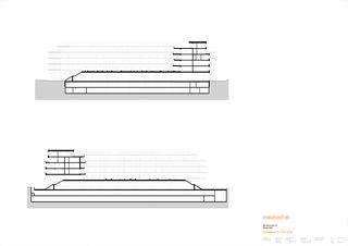 Schnitt C-C / D-D / E-E Rheinfels III von maurusfrei Architekten AG