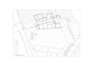 Grundriss EG Villa familiale von Bureau d'architectes Giorla & Trautmann SA