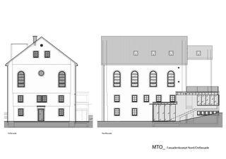 Fassadenkozept N/O Musikschule von Hornberger Architekten