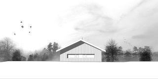 Westfassade Chalet Givrins von M2R architectes