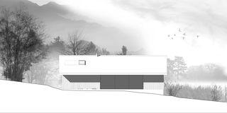 Südfassade Chalet Givrins von M2R architectes