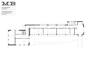 Grundriss Erdgeschoss Erweiterung Schulhaus Luterbach von Marcel Baumgartner GmbH