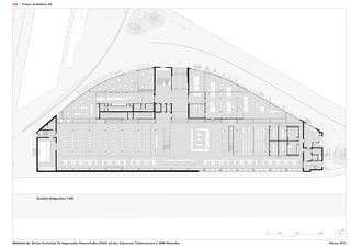 Grundriss EG 1:300 ZHAW BIBLIOTHEK von P&B Partner Architekten AG