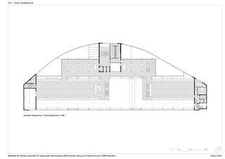 EG Grundriss 1 Mezzanin 1:300 ZHAW BIBLIOTHEK von P&B Partner Architekten AG