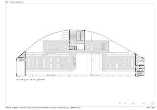 EG Grundriss 2 Mezzanin 1:300 ZHAW BIBLIOTHEK von P&B Partner Architekten AG