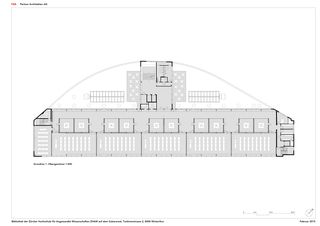 Grundriss 1. OG 1:300 ZHAW BIBLIOTHEK von P&B Partner Architekten AG