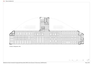 Grundriss 2. OG 1:300 ZHAW BIBLIOTHEK von P&B Partner Architekten AG