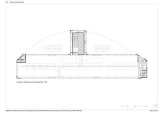 Grundriss 2. OG Mezzanin 1:300 ZHAW BIBLIOTHEK von P&B Partner Architekten AG