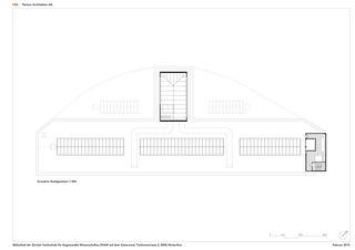 Dachaufsicht 1:300 ZHAW BIBLIOTHEK von P&B Partner Architekten AG