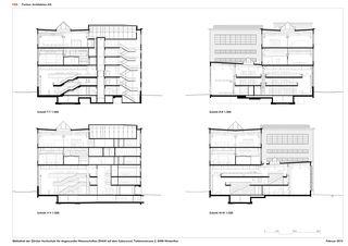 Querschnitte ZHAW BIBLIOTHEK von P&B Partner Architekten AG