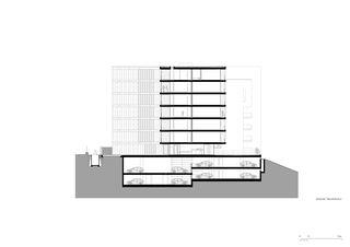 Querschnitt 1:200 Residenza al Parco von Michele Arnaboldi Architetti Sagl