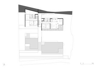 Grundriss 6. OG 1:250 Residenza al Gaggio Orselina von Michele Arnaboldi Architetti Sagl