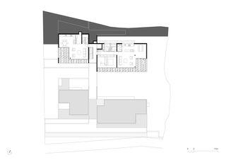 Grundriss 5. OG 1:250 Residenza al Gaggio Orselina von Michele Arnaboldi Architetti Sagl