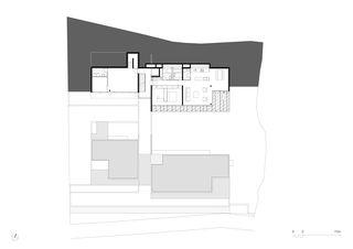 Grundriss 4. OG 1:250 Residenza al Gaggio Orselina von Michele Arnaboldi Architetti Sagl