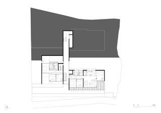 Grundriss 3. OG 1:250 Residenza al Gaggio Orselina von Michele Arnaboldi Architetti Sagl