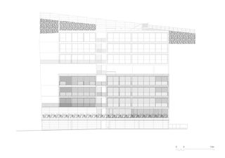 Südfassade 1:200 Residenza al Gaggio Orselina von Michele Arnaboldi Architetti Sagl