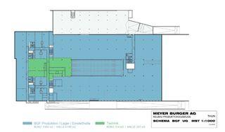 Grundriss UG Meyer Burger Betriebsgebäude von Gerold Dietrich Architekten FH/STV