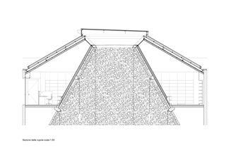 Detailschnitt Kuppel Bundesstrafgericht Bellinzona von Gramazio & Kohler GmbH