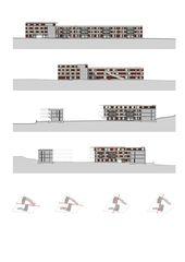 Fassadenansichten Alterswohnungen Köschenrüti  von Architekten ETH SIA BSA<br/>