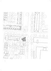 Situation 1:500 Haus mit Baum von Sauter von Moos Architekten ETH SIA GmbH