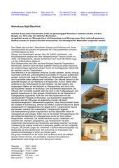 Description (en allemande) Minergie-Wohnhaus Gipf-Oberfrick de Architekturbüro André Schär Dipl. Arch. FH