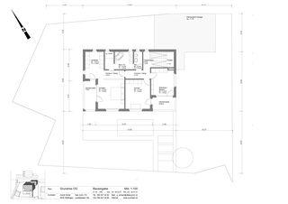 Plan 1er étage Minergie-Wohnhaus Gipf-Oberfrick de Architekturbüro André Schär Dipl. Arch. FH