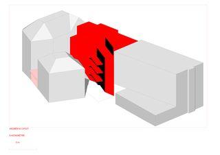 Axonometrie Süd Mehrfamilienhaus im Stockwerkeigentum 8008 Zürich von Olivier de Perrot Architecture