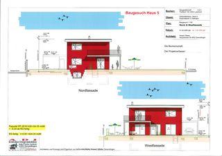 EFH Nr. 5 plan de façade 01 Einfamilienhaus-Überbauung de A-D-I  Architektur-Design-Immobilien