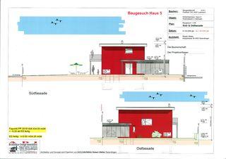 EFH Nr. 5 plan de façade 02 Einfamilienhaus-Überbauung de A-D-I  Architektur-Design-Immobilien