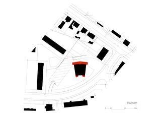 Situation Anbau und Sanierung Hochhaus von burkhalter sumi architekten