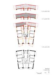 Grundrisse Anbau und Sanierung Hochhaus von burkhalter sumi architekten