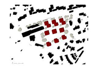 Situation 1:1000 Wohnüberbauung Fluh, Jona-Rapperswil de burkhalter sumi architekten