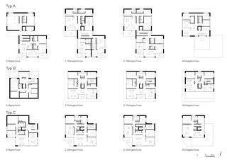 Plans Wohnüberbauung Fluh, Jona-Rapperswil de burkhalter sumi architekten