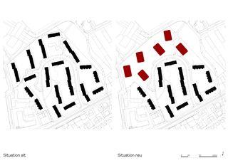 situation ancien/nouveau Siedlung Sunnige Hof de Architekten ETH/ BSA/ SIA/SWB<br/>