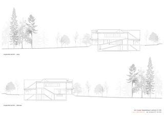 Längsschnitte 1:200 Twin Houses von Halter Casagrande Partner AG