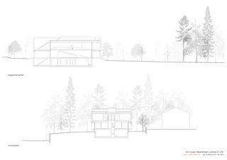 Quer- Längsschnitt 1:200 Twin Houses von Halter Casagrande Partner AG