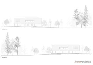 Nord- und Suedfassade 1:200 Twin Houses von Halter Casagrande Partner AG