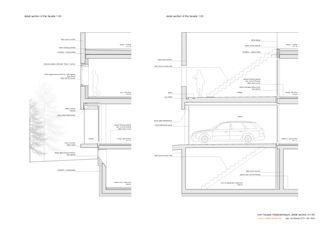 Detailschnitt 1:50 Twin Houses von Halter Casagrande Partner AG