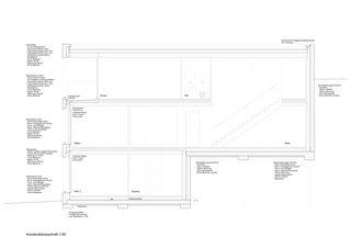 Konstruktionsschnitt Einfamilienhaus Vitznau von alp architektur lischer partner ag