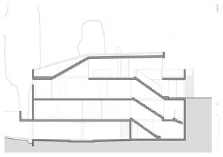 Schnitt AA Villa Schuler von Andrea Pelati Architecte