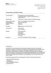 rapport du projet Terrassenhäuser Lake Side Schindellegi de DNSarchitekten GmbH