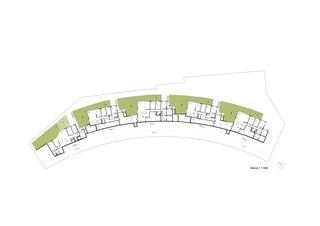 plan niveau 1 Terrassenhäuser Lake Side Schindellegi de DNSarchitekten GmbH