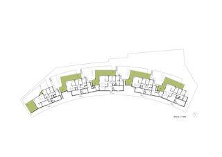 plan niveau 2 Terrassenhäuser Lake Side Schindellegi de DNSarchitekten GmbH