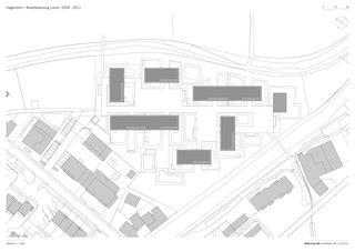 Situation 1:1000 Arealbebauung Lorze von Della Casa AG Architekten SIA